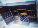 Review Boho Bar Cabinet (Walnut Finish)