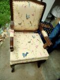 Review Kelvin Arm Chair (Linen, Grey Robins)