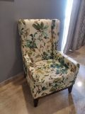 Review Joan Wingback Chair (Linen, Grey Robins)