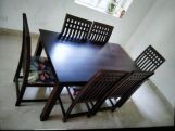 Review Adolph 6 Seater Dining Table (Walnut Finish)