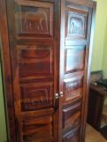 Review Emboss 2 Door Multi Utility Wardrobe (Honey Finish)