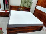 Review Boho Bed With Storage (Queen Size, Walnut Finish)