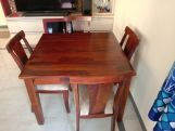 Review Mcbeth Storage 4 Seater Dining Table Set (Honey Finish)
