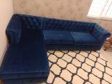 Review Henry L - Shape Left Aligned Corner Sofa (Velvet, Chestnut Brown)
