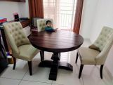 Review Clark Round 4 Seater Dining Table (Honey Finish)