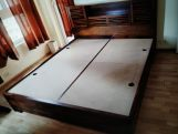 Review Ferguson Bed With Storage (Queen Size, Teak Finish)