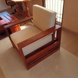 Review Winster 1 Seater Wooden Sofa (Honey Finish)