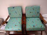 Review Crisper Lounge Chair (Linen, Teal Pomme)