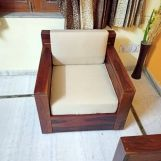 Review Marriott Wooden Sofa Set (Teak Finish)