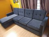 Review Nicolas 3 Seater L Shape Left Aligned Sofa (Warm Grey)