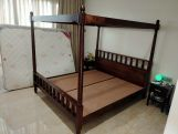 Review Allure Poster Bed Without Storage (Queen Size, Teak Finish)
