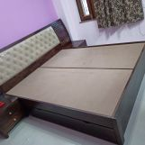 Review Persia Bed With Side Storage (Queen Size, Honey Finish)