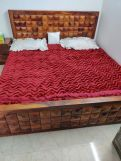 Review Morse Bed With Storage (King Size, Honey Finish)