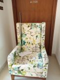 Review Joan Wingback Chair (Fabric, Dusky Rose)