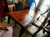 Review Mcbeth 6 Seater Dining Table With Storage (Honey Finish)