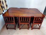 Review Cohoon 6  Seater Compact Dining Set (Walnut Finish)