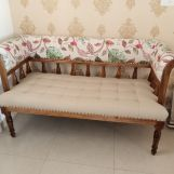 Review Reyes Bench With Back Rest (Cotton, Rosy Leaf)