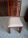 Review Adolph Dining Chair With Fabric (Honey Finish)