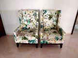 Review Joan Lounge Chair (Fabric, Aqua Flower)