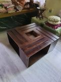Review Lynet Coffee Table with Serving Tray (Walnut Finish)