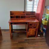 Review Nettle Office Table Cum Shelf (Honey Finish)