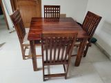 Review Adolph 4 Seater Dining Table (Honey Finish)