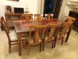 Review Mcbeth 8 Seater Dining Table With Storage (Walnut Finish)